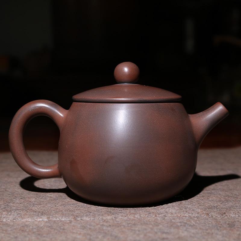 福源陶 纯手工光身素泥兴壶日进桶金捡漏正宗广西钦州坭兴陶茶壶