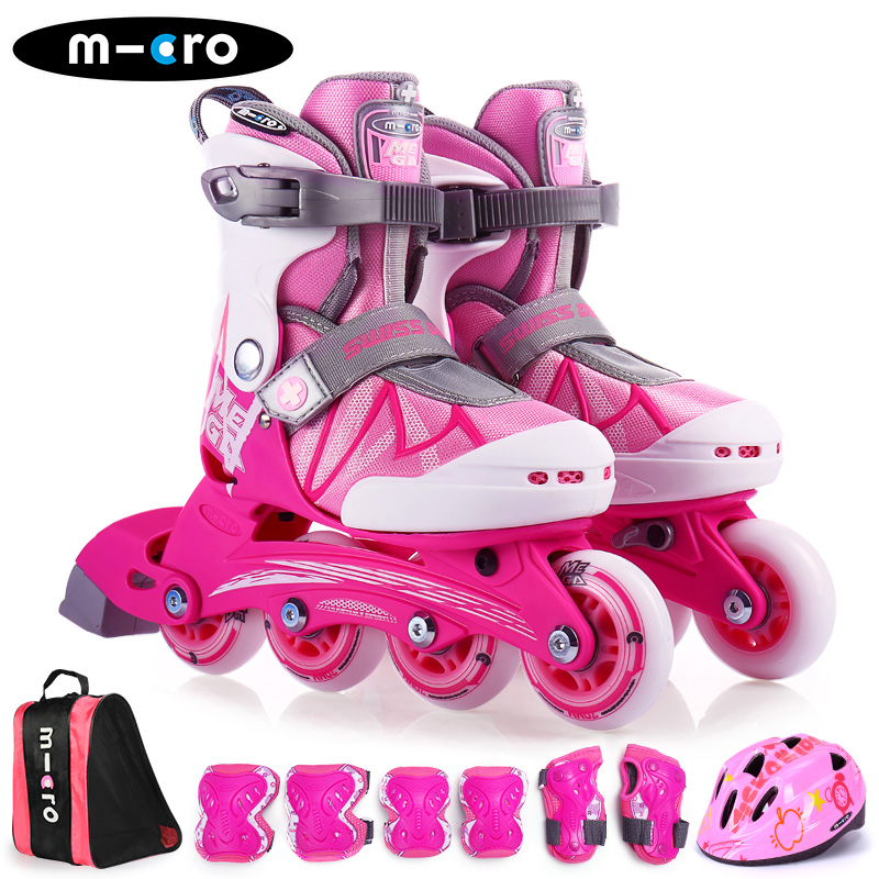 Micro macold high top roller skates childrens set beginners adjustable roller skates roller skates