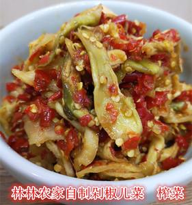 湖南剁椒特产开胃菱角菜瓶装腌菜