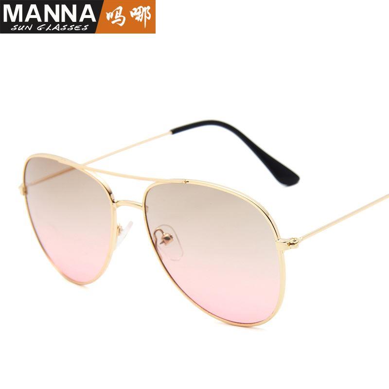 New gradients Pilot Sunglasses men and women trend tea beach glasses driver driving toad glasses