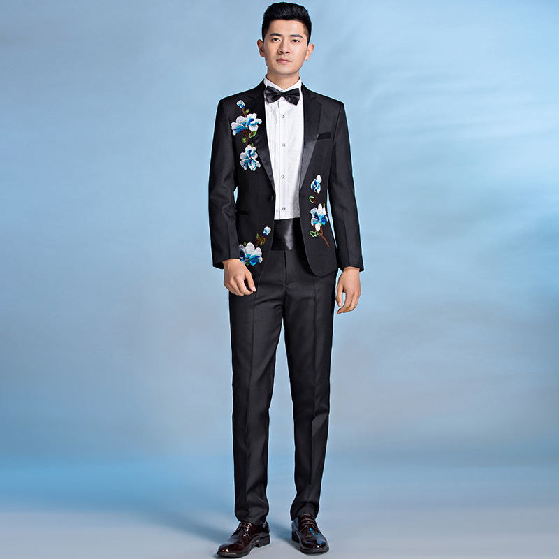 New high-end mens tuxedo stage performance dress conductor chorus Suit Wedding Photo banquet NEW