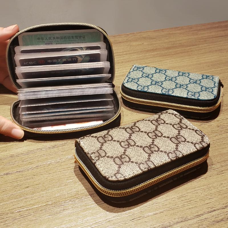 卡包女小巧超薄韩版小钱包短款卡带家庭皮革男士钥匙2019年多卡位