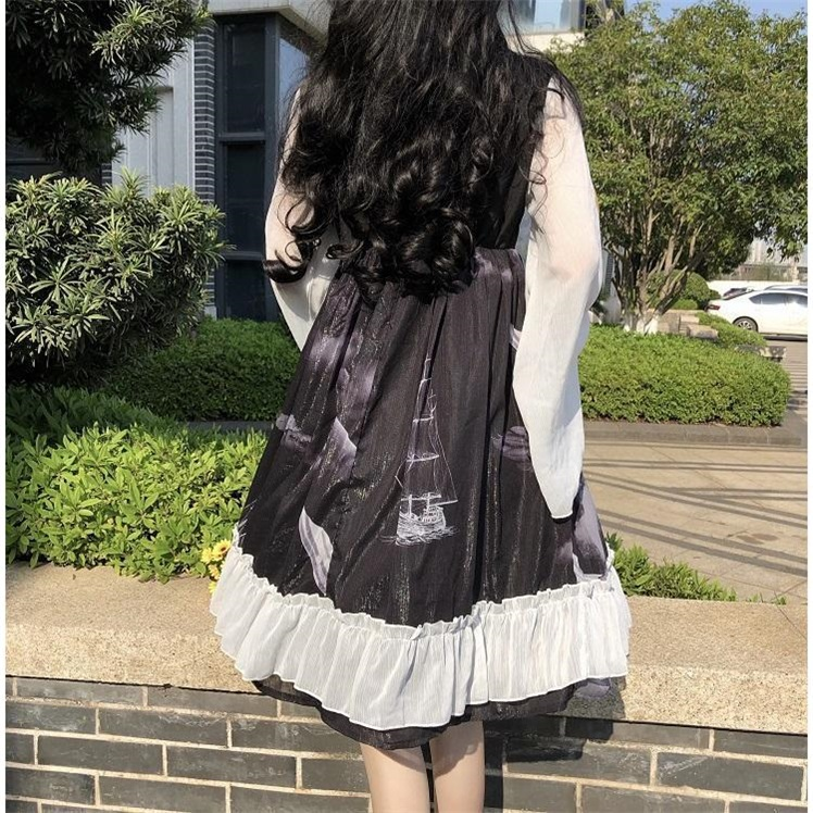 Chinese style Lolita loose size 300 kg bowknot mesh long sleeve Baby Dress