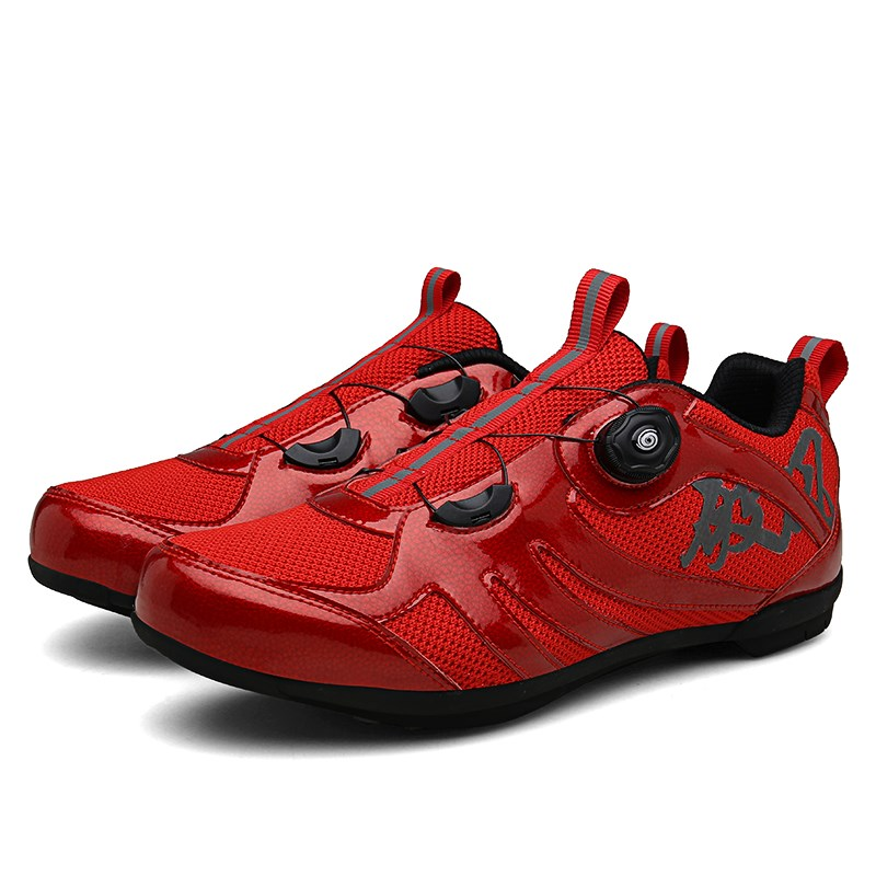 Road mountain mens and womens leisure bicycle non lock shoes hard sole dynamic cycling special cycling shoes sports equipment