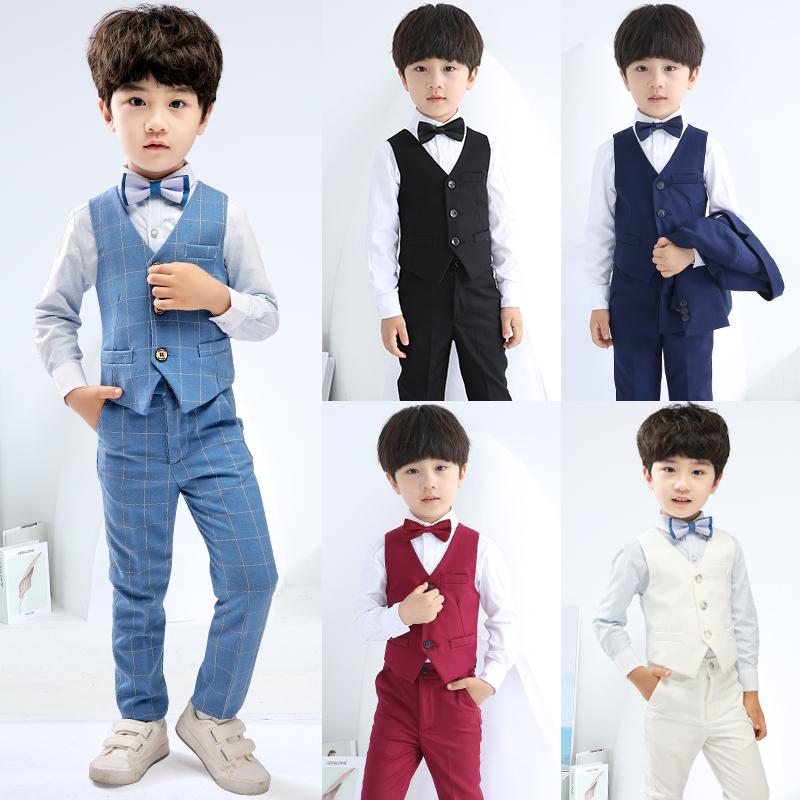 兒童禮服男套裝男孩小主持人服裝花童鋼琴演出服男童帥氣西裝秋冬