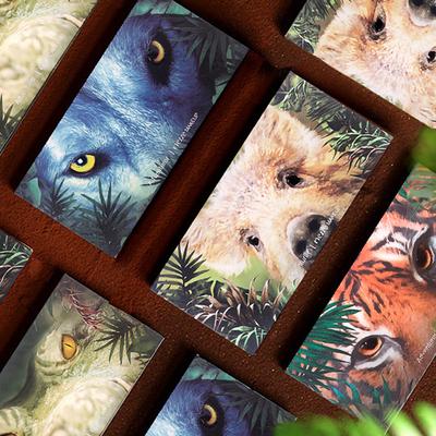 小红书推荐眼影日记探险十二色眼影老虎小猪冰狼12色动物眼影