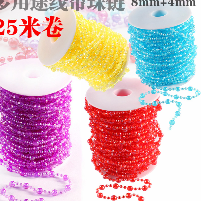 Decorative handmade doll Necklace material crystal ceiling bead chain stage background wedding supplies acrylic bead curtain water