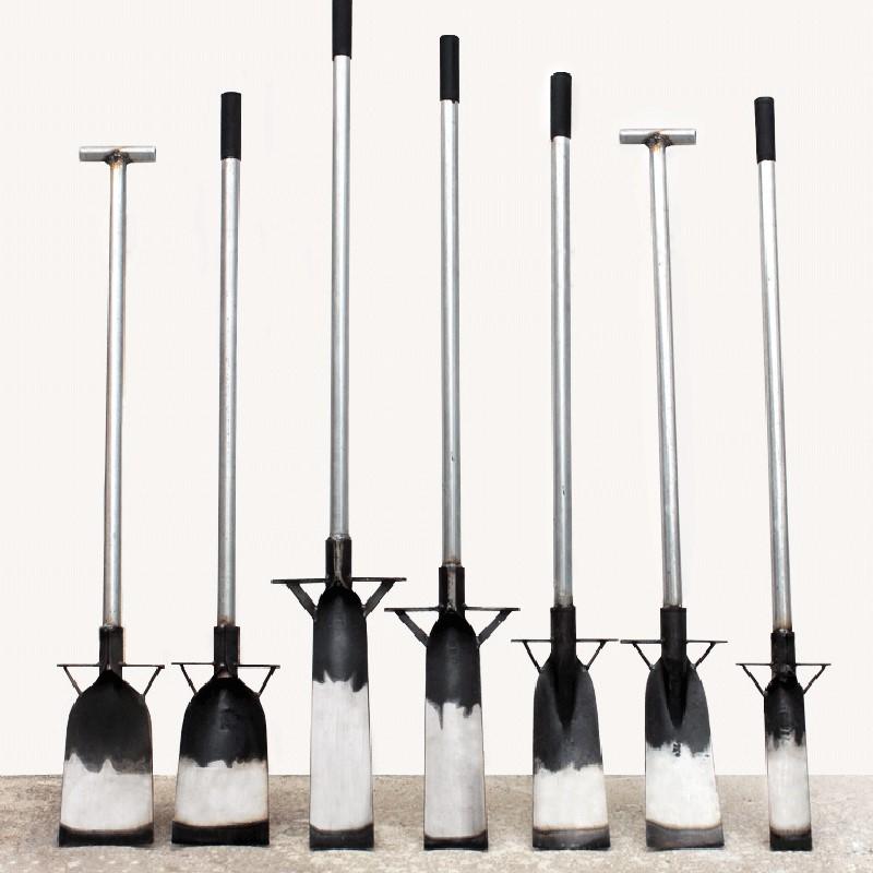 Shovel gardening, long handled household spade head, flat head stainless steel tools, outdoor manganese steel articles, thickening flowers.