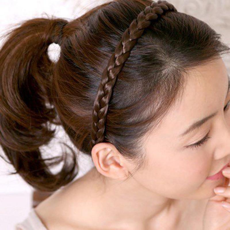 假发黑色简约女式韩版发卡发箍2018新款简单头带束发带大气成人齿