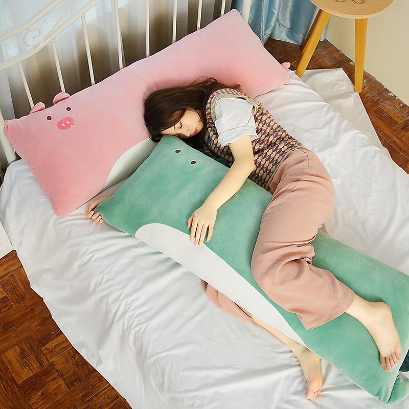 抱枕靠枕卧室可拆洗可爱大号长枕头