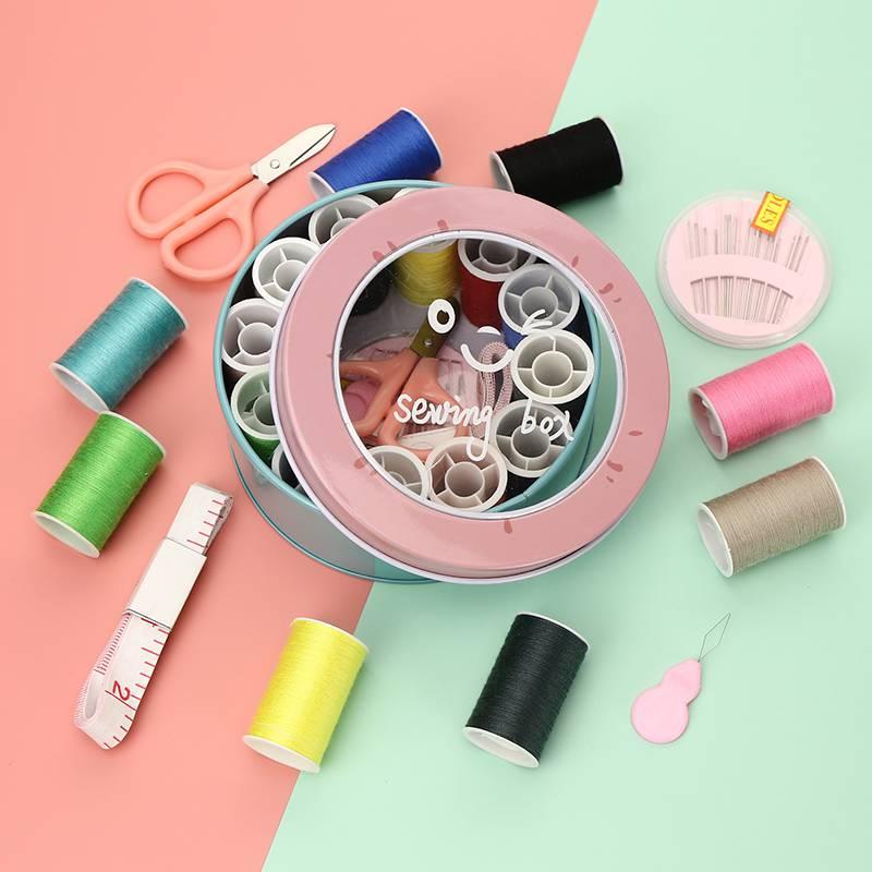 针线盒套装学生便携小型收纳针线包家用手工diy制作缝纫配件工具