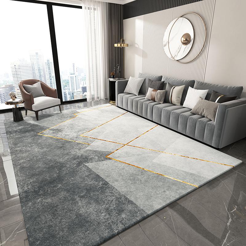现代简约加厚客厅茶几毯床边毛毯好用吗
