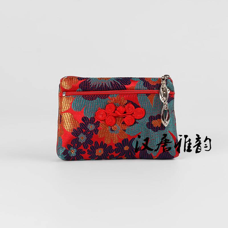 Chinese style retro clasp national style pocket money embroidery change embroidered bag silk womens bag overseas gift