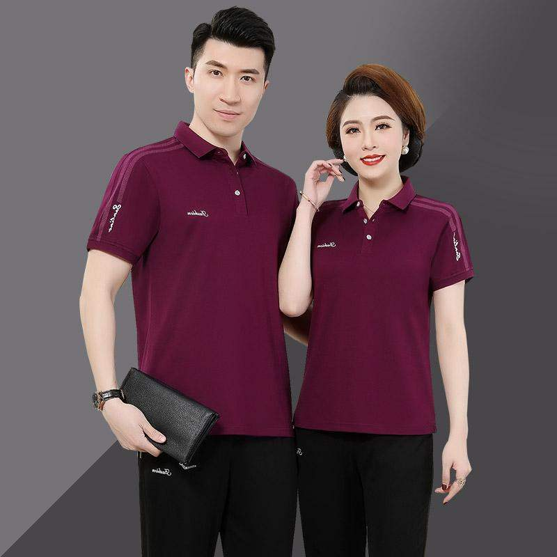 Top grade hot selling parents sports suit 2020 new style short sleeve trousers with lapel