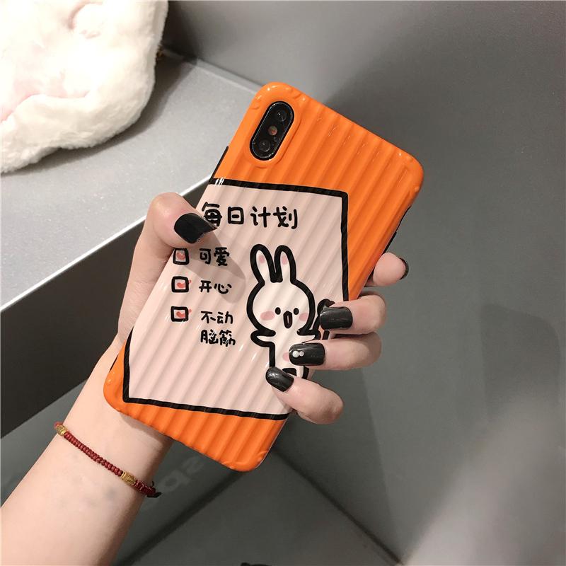 可爱兔子苹果xs/max/xr手机壳行李箱iPhone7/8plus创意文字6s需要用券