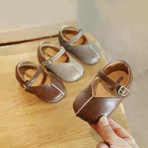 热卖名品牌女宝宝鞋子2020年春季1一3岁小皮鞋软底秋款婴儿公主鞋