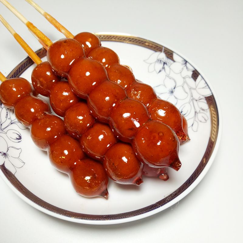 。冰糖葫芦山楂球80后怀旧休闲零食老北京口味小吃
