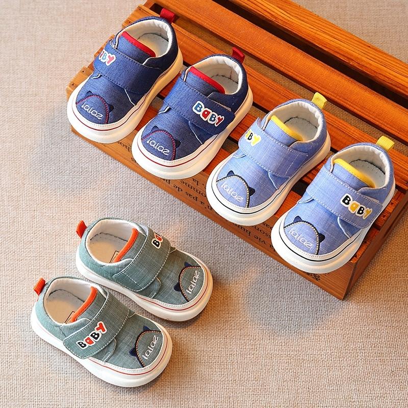 x春秋牛仔儿童机能鞋男宝宝鞋子女童学步鞋软底婴儿鞋小童休闲布,可领取3元天猫优惠券