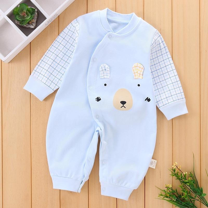 新生婴儿连体衣春秋季纯棉衣服宝宝哈衣睡衣爬爬服0-3-6-12个月薄,可领取5元天猫优惠券