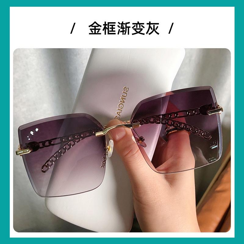 有色日式墨镜女夏拍照女款太阳镜防紫外线大圆脸适合的眼镜显脸小