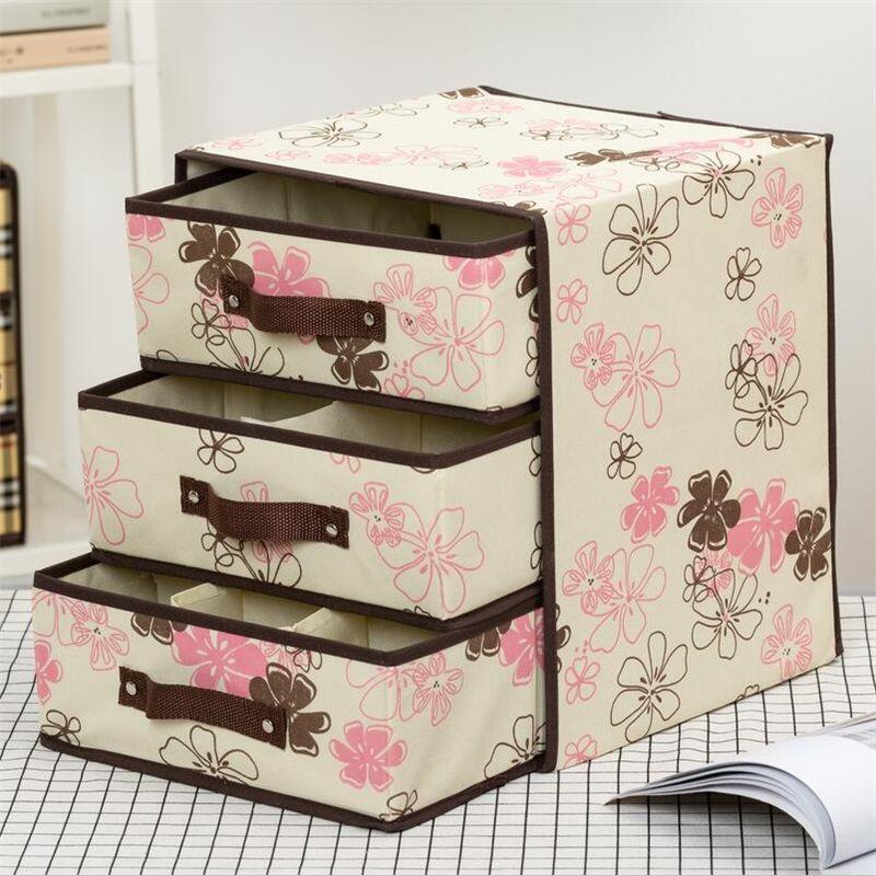 Underwear storage box cloth art drawer type storage r box the storage of underwear and socks in the inner compartment of the underwear box