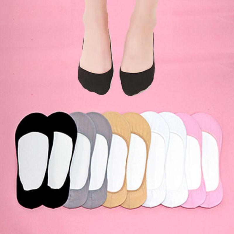【10双装】袜子女隐形船袜纯棉浅口女袜蕾丝薄款防滑打底袜短袜