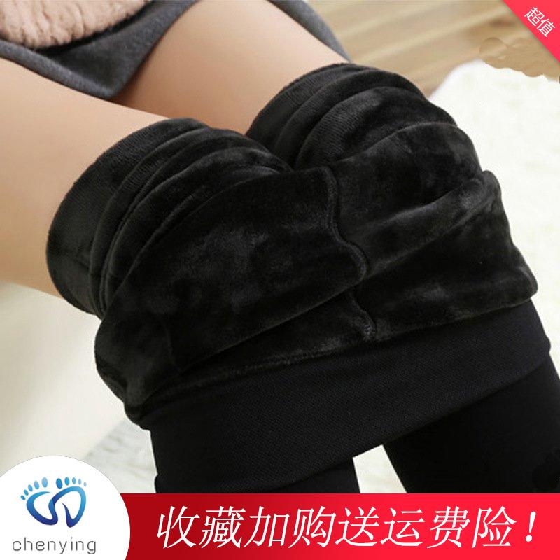 【送棉袜】冬季棉裤女加绒加厚打底裤女超厚外穿显瘦高腰保暖裤