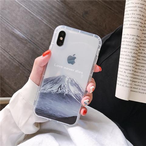 富士山iPhone11pro手机壳防摔软壳苹果8plus外壳6s壳11 XS XR max