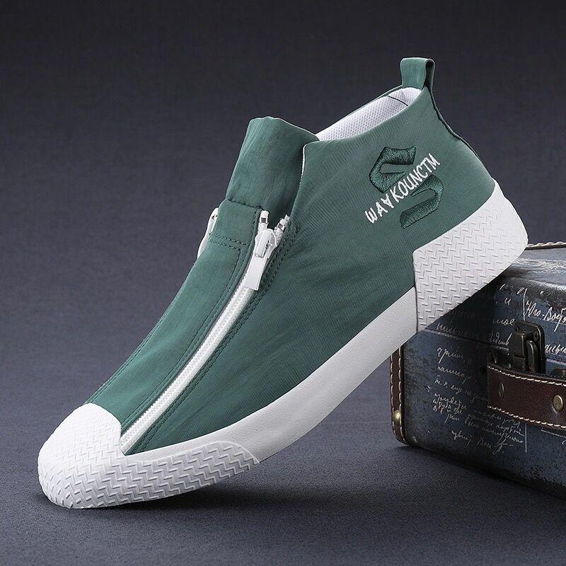 高帮帆布鞋男潮鞋韩版百搭板鞋休闲鞋男士布鞋2021春夏季新款