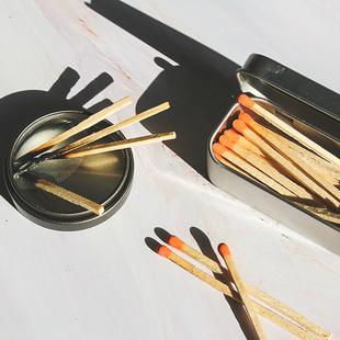 新品香薰蜡烛专用火柴罐加长款10cm彩头创意艺术雪茄精品洋火柴
