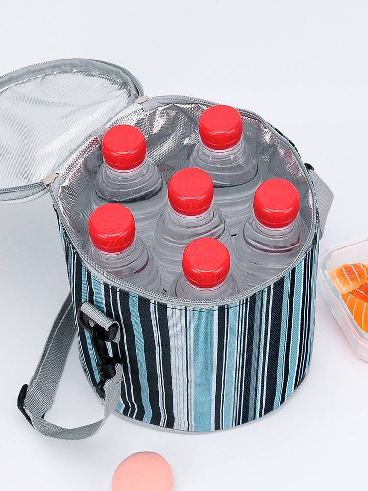 Thickened bag handbag aluminum foil round thickened bag lunch box bag heat preservation bag thickened convenience bag filled with thickened Bucket Bag
