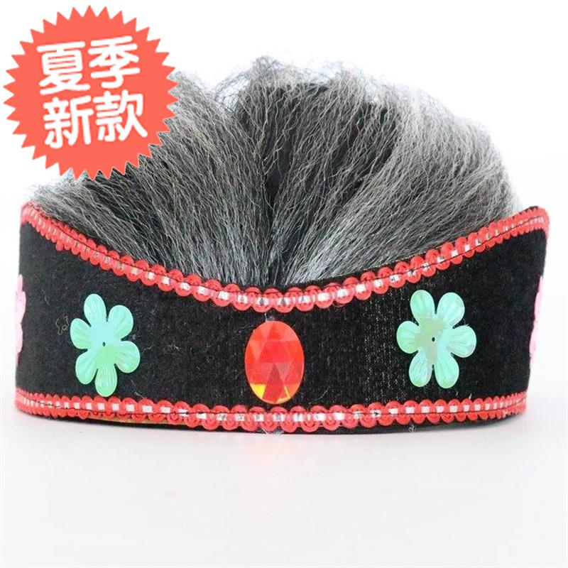 中国道具假的扮演小品固N款角色摆设奶奶款化装饰演假发帽老太太