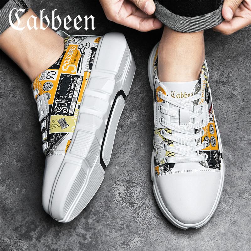 卡宾男鞋春季潮鞋2020新款网红鞋子男潮鞋男士休闲鞋男生涂鸦板鞋