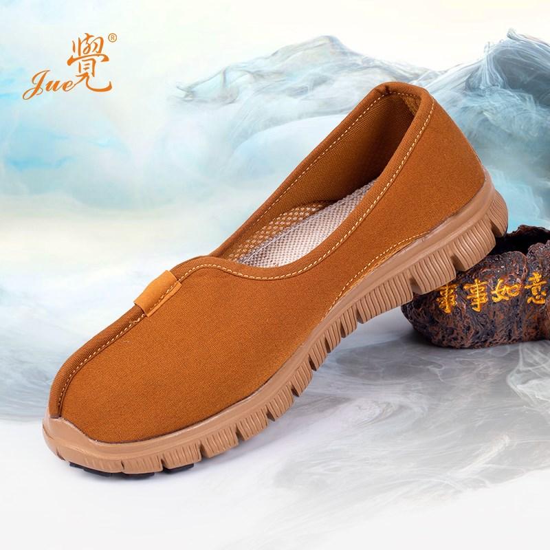 僧鞋春秋男女佛教网面单鞋布鞋禅修鞋比丘尼透气和尚夏季鞋子