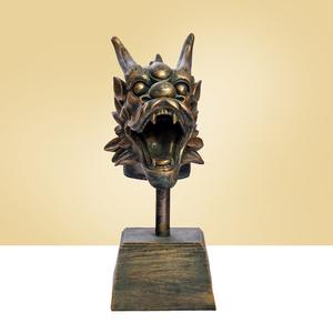 明园十二生肖仿古铜龙兽首玄关招财摆件礼品动物工艺品展示摆设