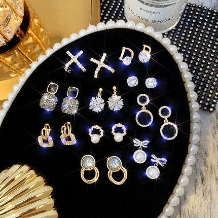 2020年韩国耳钉高级感珍珠耳环2019新款潮气质网红时尚百搭饰品女