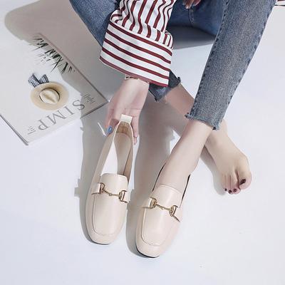 孕妇鞋女护士鞋软底单鞋平底奶奶鞋2019夏季新款百搭豆豆鞋