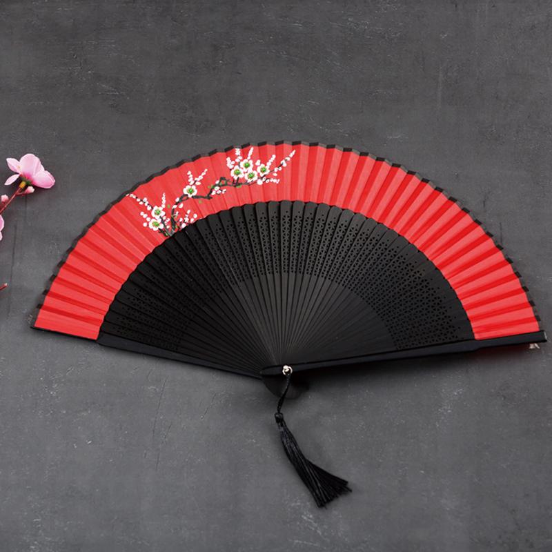 夏季女式便携扇子中国风复古风折叠扇日本和风汉服古装随身小折扇,可领取1元天猫优惠券