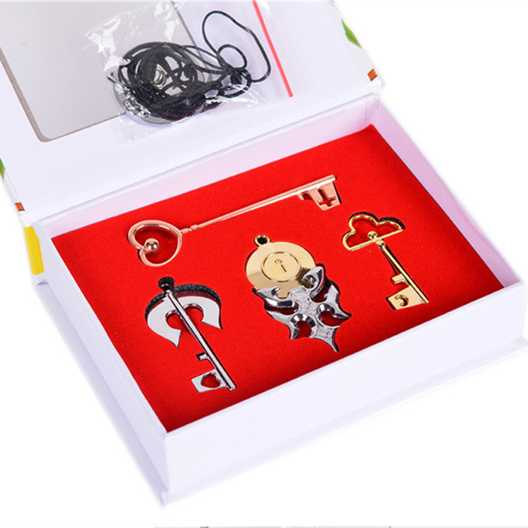 Gift heart-shaped love fake small peripheral cos a wild key popular sakazaki Necklace animation Shitong collection music buckle lock