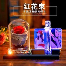 汽车摆件水晶香水座车内装饰品中控台创意礼物diy私人订制照片图片