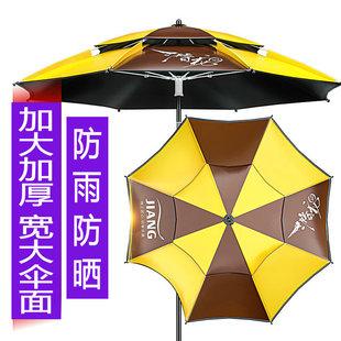 匠氏钓伞2.2/2.4米万向双城防风雨伞防嗮加厚遮阳垂钓鱼伞渔伞具图片