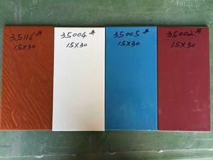 15*30 150*300釉面外墙内墙瓷砖白色蓝色玫红线条砖