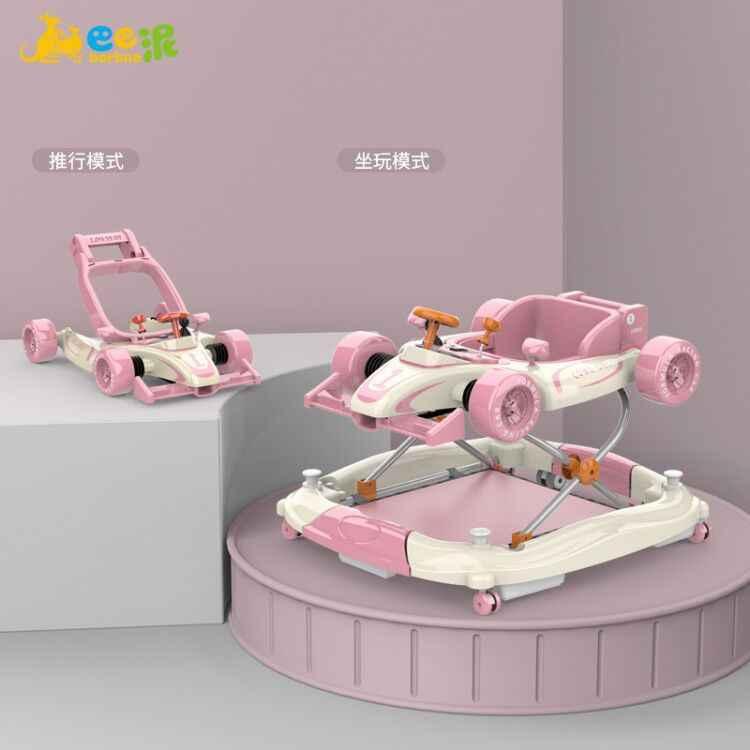 巴泥の赤ちゃんのウォーキングの車の男性の赤ちゃんのo型の足の女の子の多機能の学習は歩いて両手に座って両を押すことができます。