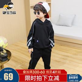 男童运动套装春款2021新款儿童中大童洋气连帽卫衣休闲两件套韩版