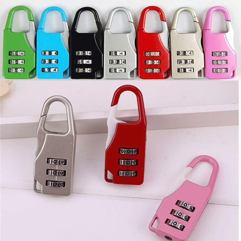 密码小挂锁 多规格 迷你行李箱包密码锁 背包拉链锁 小锁头
