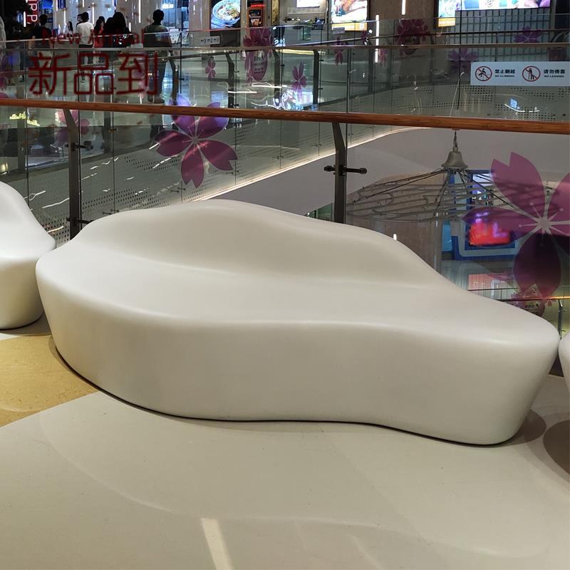 玻璃钢休闲椅子大型购物商场坐椅公共场所v休息椅简约椅组合系列