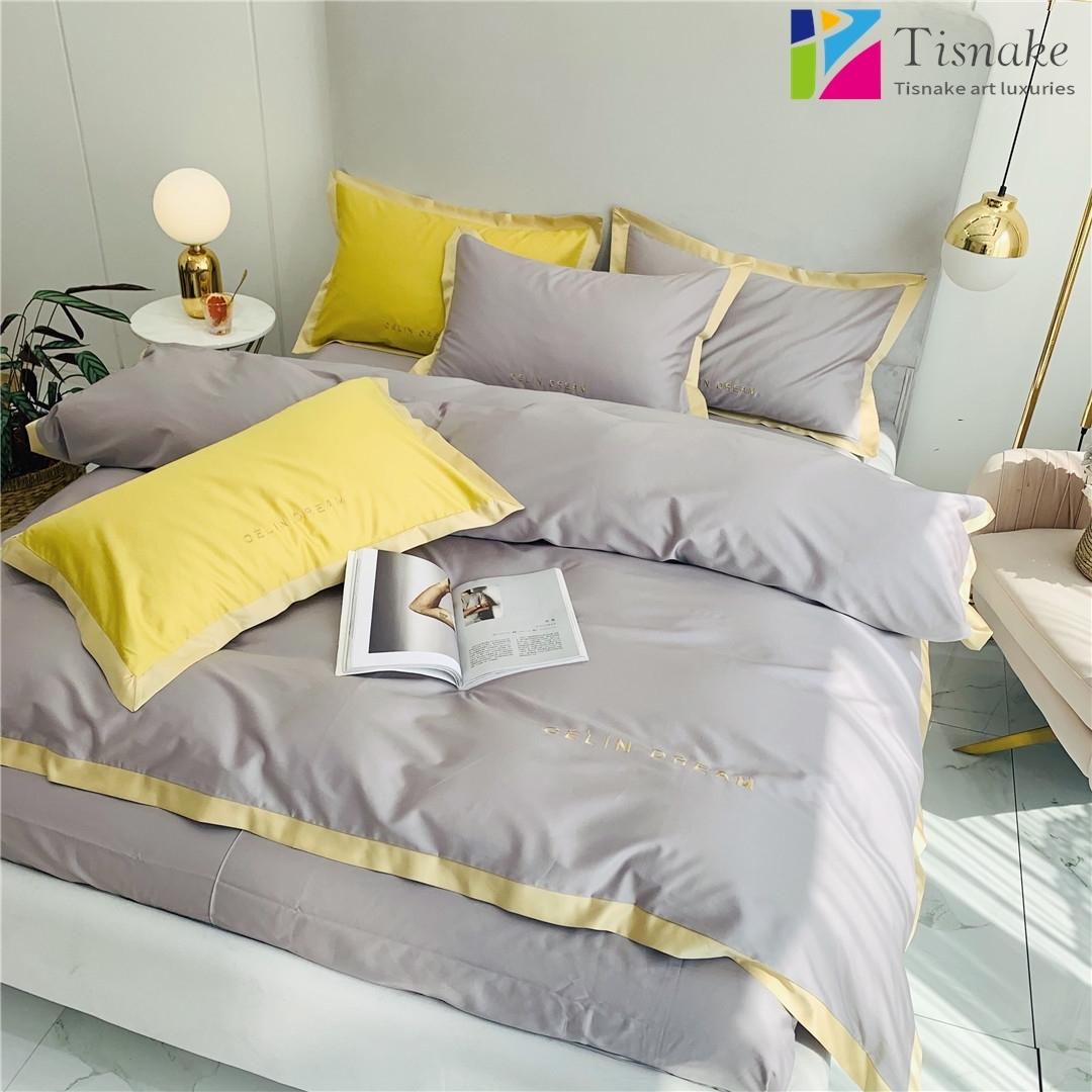 シンプルな刺繍寝具寝具の寝具60本の綿4点セットの家庭用紡績メーカー