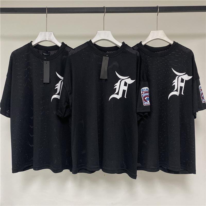 FEAR OF GOD FOG第五季主线网眼短袖袖章宽松男女比伯同款高街T恤