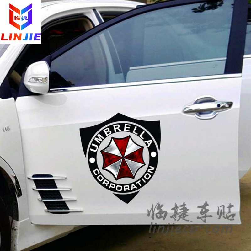 Biochemical crisis car stickers anti protective umbrella refitting side door body stickers car decal package