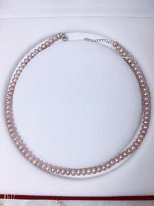 珍有缘珠宝 天然珍珠项链 送妈妈锁骨链S925纯银扣头 时尚大气